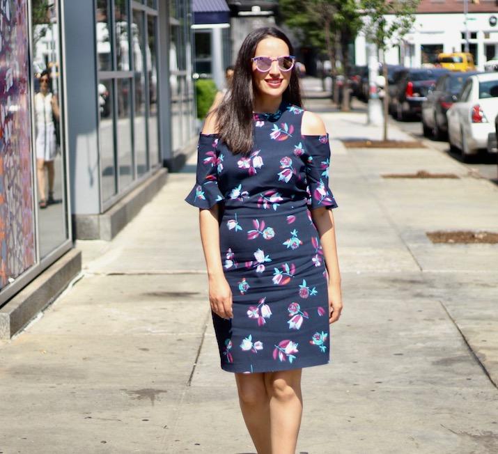 bare shoulder dress NYC