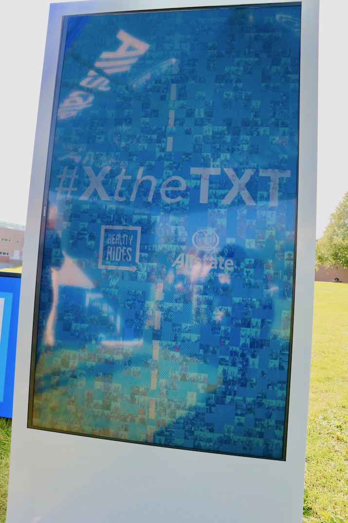x the text with Allstate