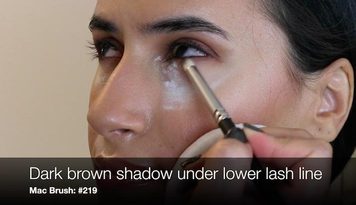 eyeshadow lower lash line