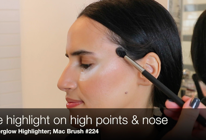 makeup highlighter Mercedes Sanchez