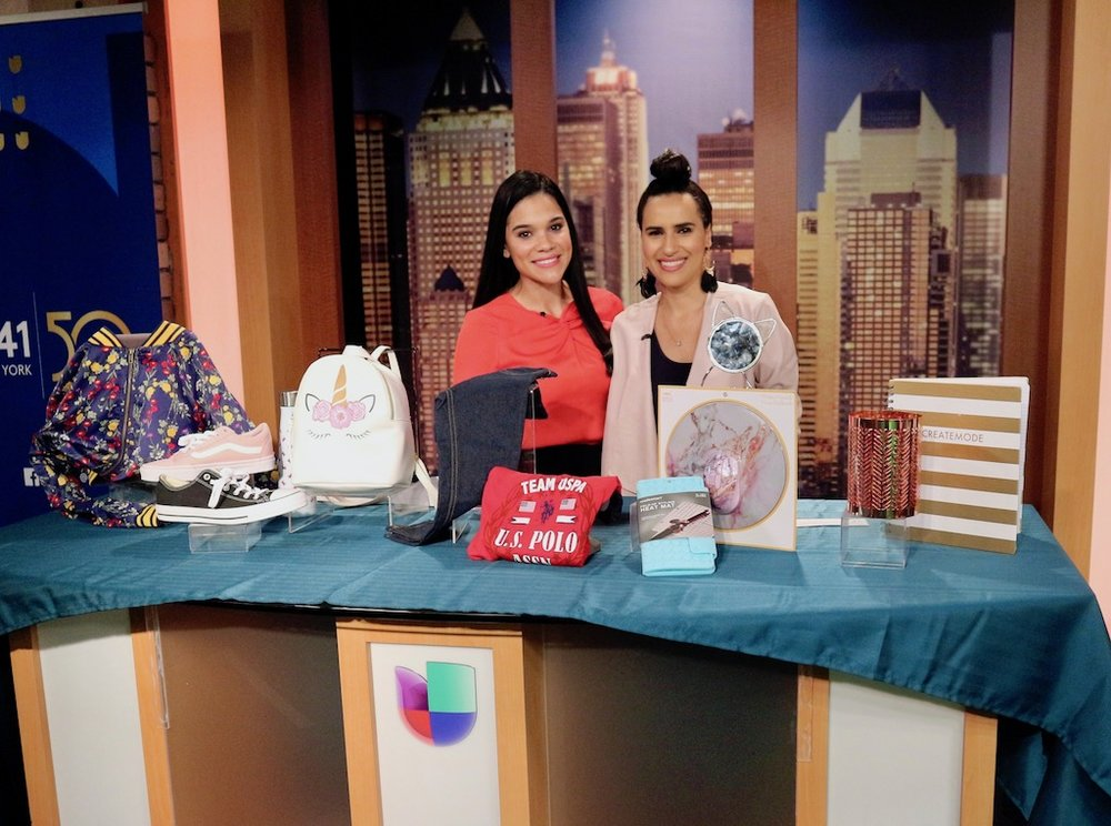 Univision Yisel Tejeda and Lifestyle Expert Mercedes Sanchez