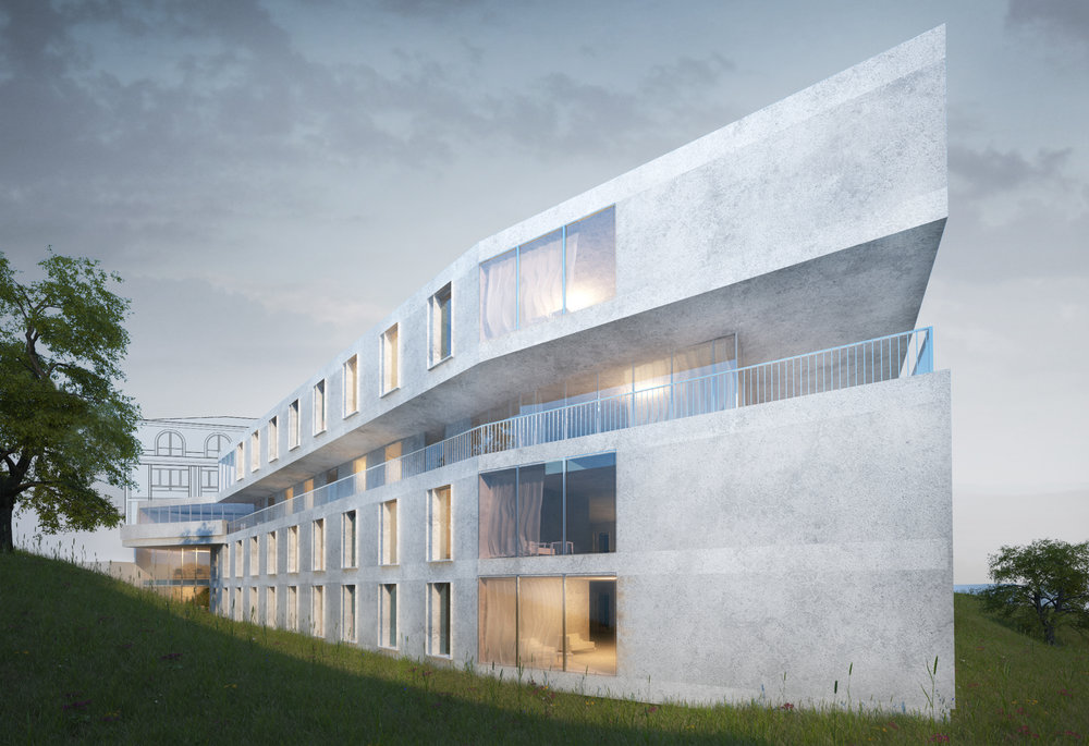 Extension of EMS Foundation la Rozavère Aged care home  Lausanne,Switzerland