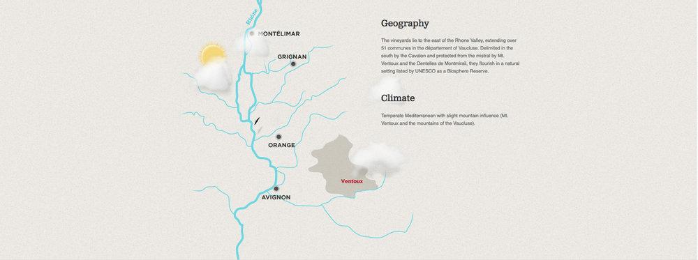 Ventoux - Rhone Valley Map