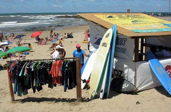 Punta del Este has a bumping beach scene