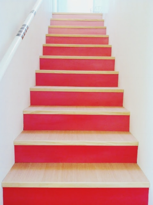 Perfect Ombre Painted Stairs