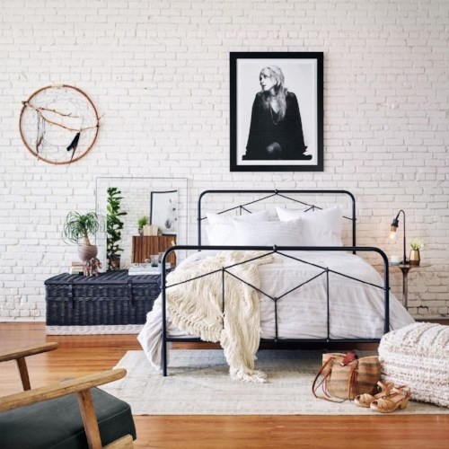 Modern and Simple Wrought Iron Bed