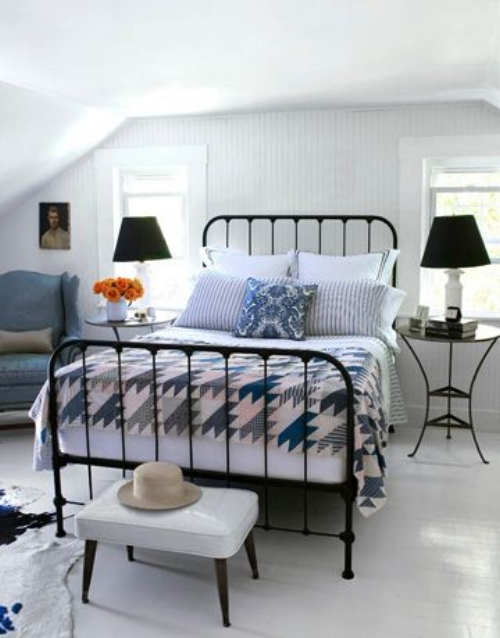 Wrought Iron Bed Cottage
