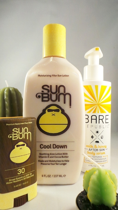 Sun Bum Cool Down and Bare Replublic After-Sun Body Serum