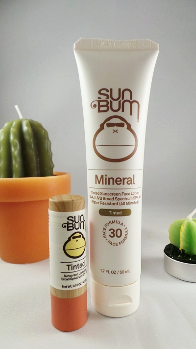 Sun Bum Mineral Tinted Sunscreen Face Lotion and Sum Bum Tinted Lip Balm