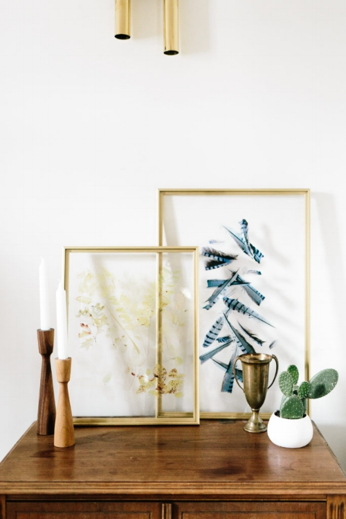 Framed Feathers In The Home