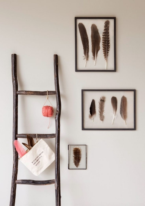 Framed Feathers Home Decor