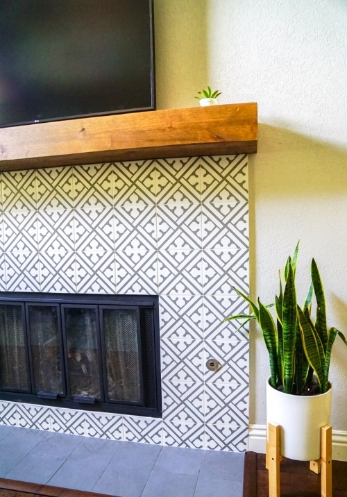 Pretty Tiled Fireplace