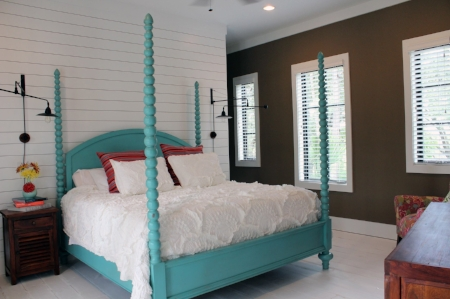 Teal Painted Bed Frame