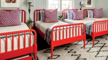 Red Painted Bed Frames