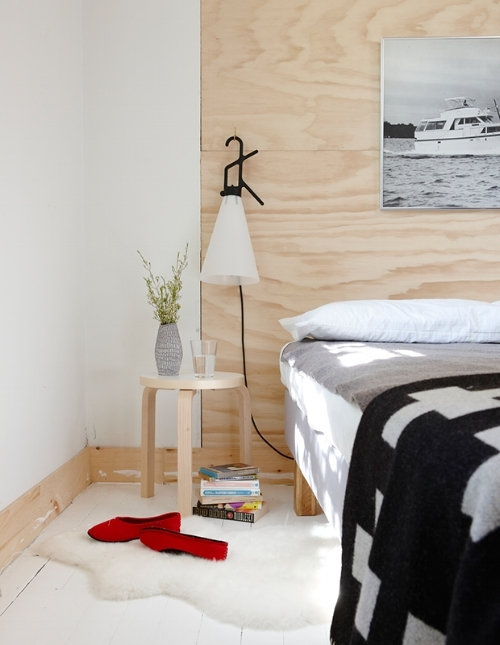 Plywood Wall Headboard