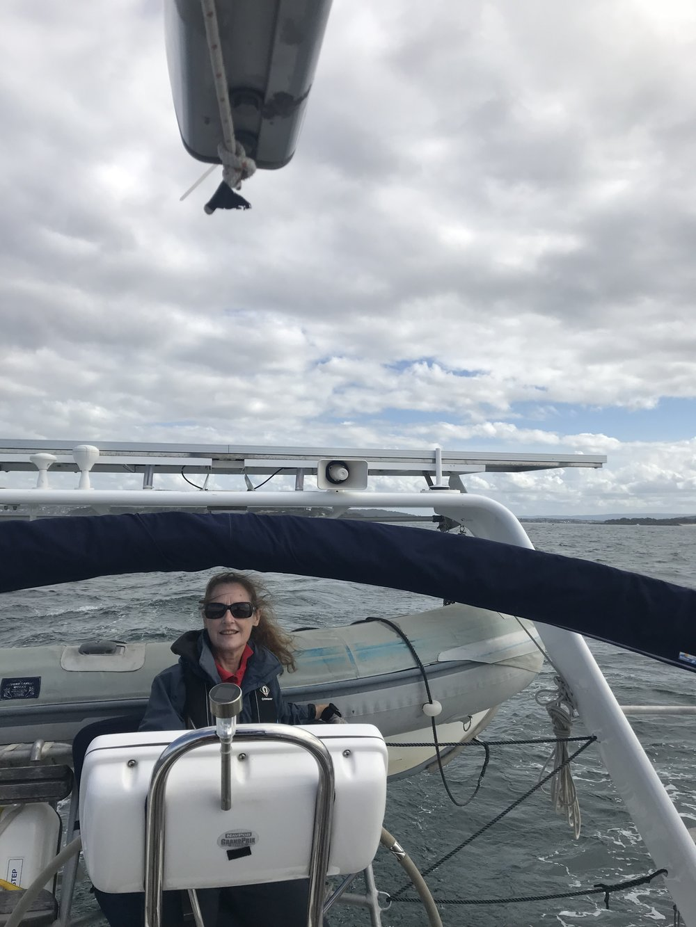 Bronwyn at the helm