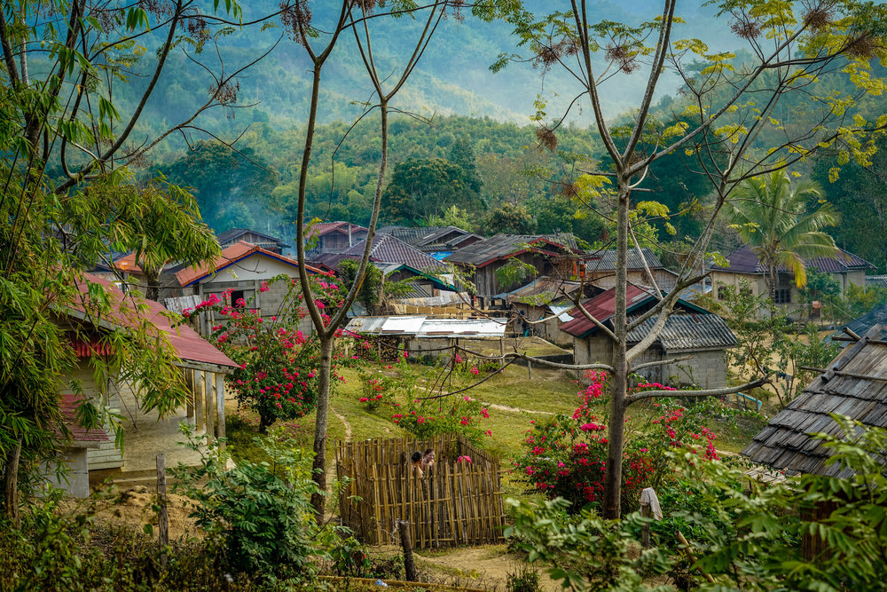 Village in northern Lao   | Lao PDR   ©LaurenKanaChan