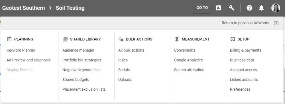 Adwords keyword planner menu.PNG