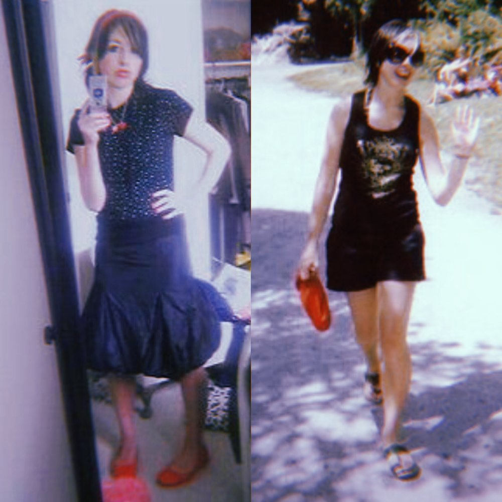 Excuse the terrible quality of these embarrassing Myspace photos circa 2007