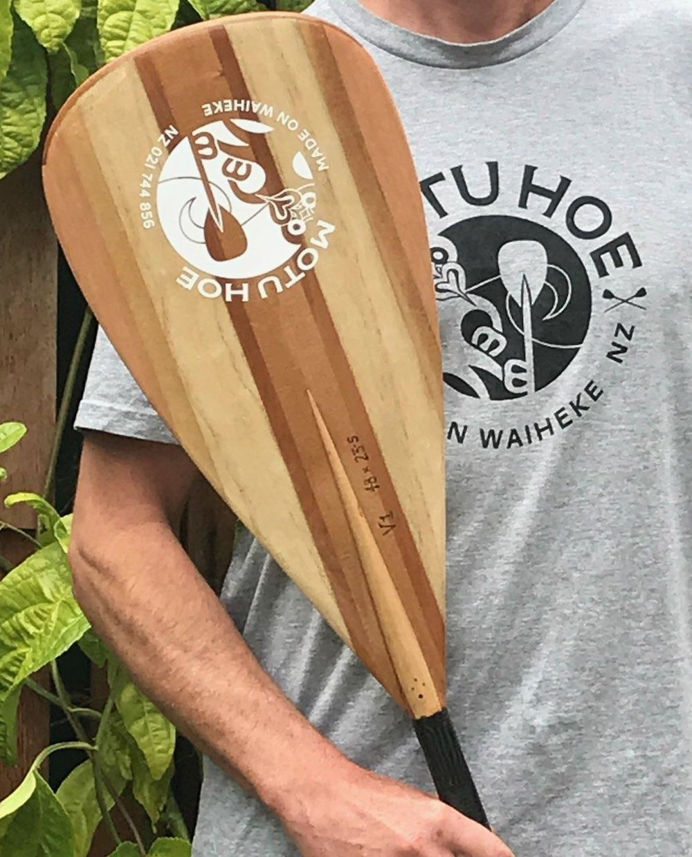 Motu Hoe paddle custom made by Tree Essence FurnitureMakers www.treeessence.co.nz