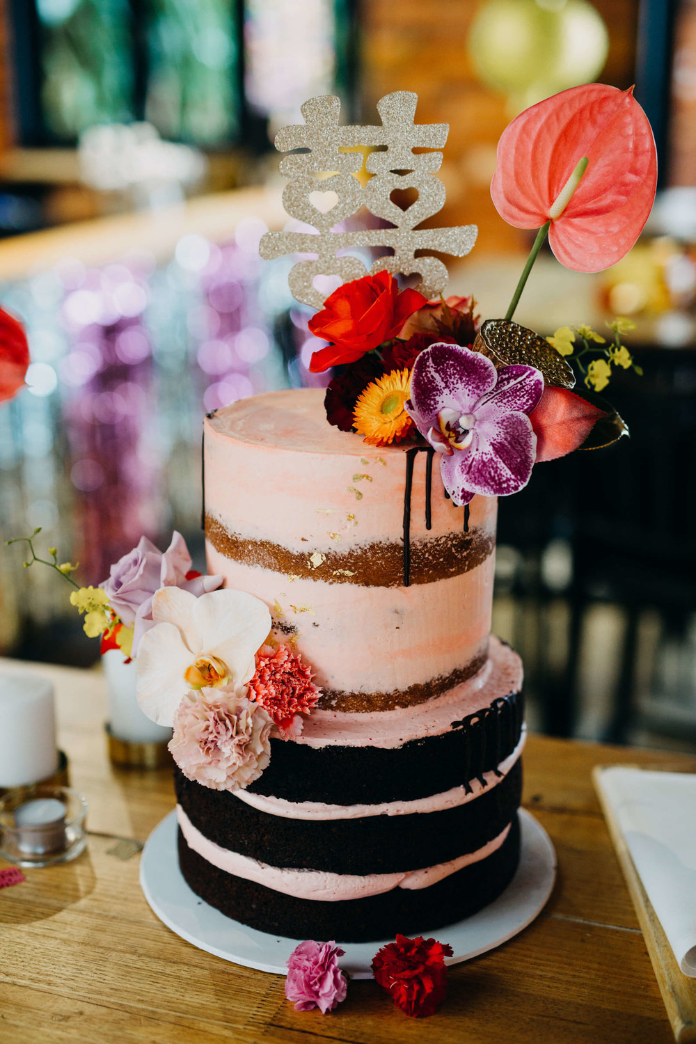 Cake, wedding, semi naked, flowers.jpg