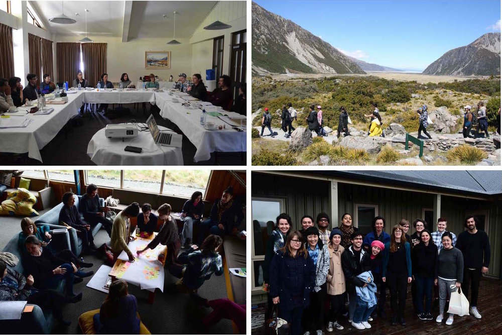 Intensive sessions: 5min talks by participants, Aoraki walk, and open space workshop.