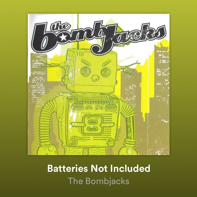 And we're back from the future, (Spotify, Apple, iTunes)Link in bio for our debut 2003 album The Bombjacks - batteries not included! Also you can click the story for Spotify
