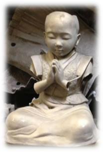 """Baby Buddha"" sculpture before welding"