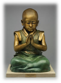 """Baby Buddha"" on his base"