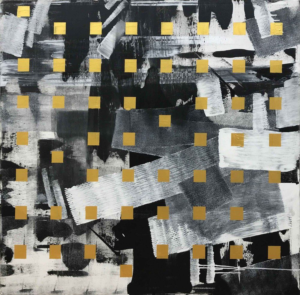 irregular squares - 48 x 48Acrylic on Canvas