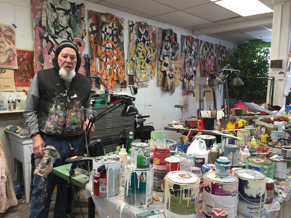 Alan in his Connecticut Studio.