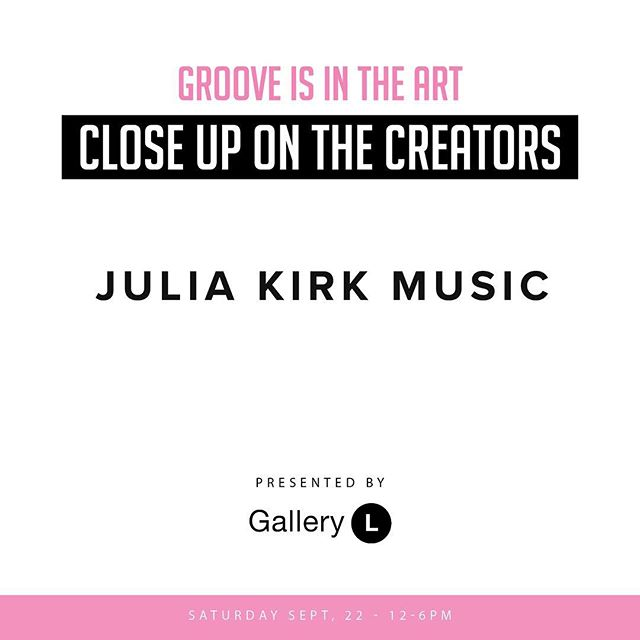 Groove is in the Art is 1 day away! We will have a house full of wonder women including @julia_kirk • Julia will be entertaining us all performing live at #grooveisintheart #gathershopbeinspired #girlgang #cousinclub
