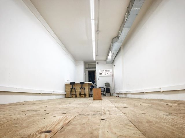 A blank canvas awaits to be transformed into an amazing new exhibit featuring the works of Alan Neider @aneider52. 🙌🏼 We'll be teasing out pics all week.  You won't want to miss this opening!! ⚡️⚡️⚡️