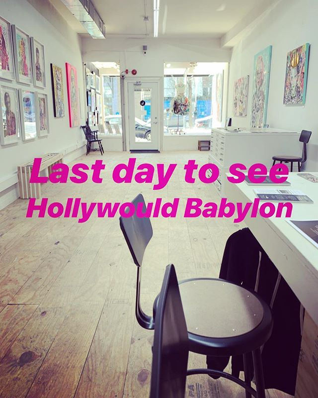 It's the last day to check Hollywould Babylon at Gallery L. We are open from 12-5pm today - come thru! 💖 @hollywould_studios