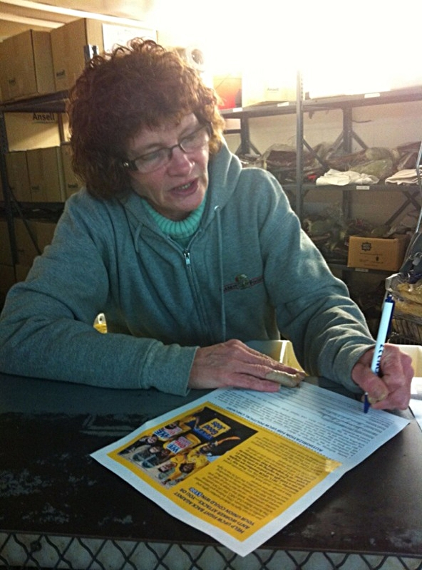 Sherry Merkley, member at Farbest Foods, signs up for the Active Ballot Club.jpg