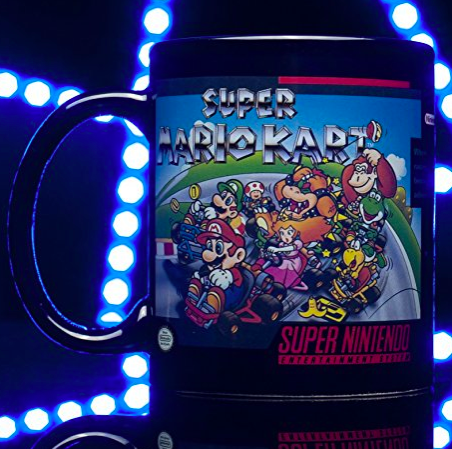 SNES Mario Kart Heat Changing Mug