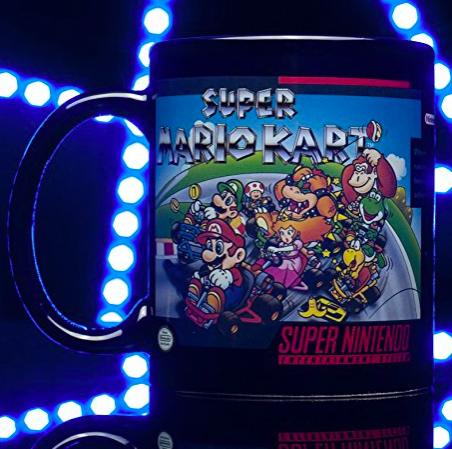 SNES Mario Kart Heat Changing Mug