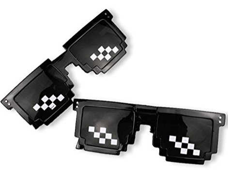 Pixel 8-Bit Glasses