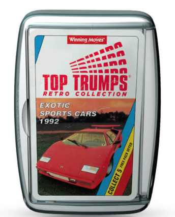 Top Trumps 1992 Sports Cars