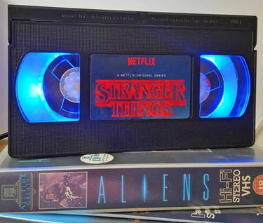 Stranger Things VHS Lamp