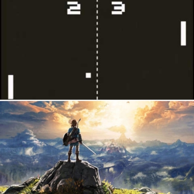 We've come a long way from the simplicity of Pong to the latest stunning visuals of Zelda!