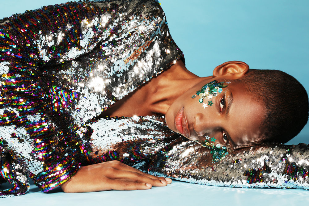 """sequin wrap dress """"an italian theory"""" by  alessandro enriquez"""
