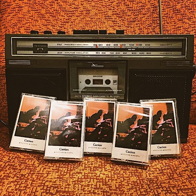 """This is Carriers first release. I'm so thankful & excited to finally share these songs from our Debut Album with you all. On May 11th, 2018, 2 songs """"Peace Of Mine"""" & """"Daily Battle"""" will be available digitally & on cassette for all to hear & share. Thanks @john_curley @ultrasuedestudio @postmoderndrummer @cs_pavlinac @trentbecknell Aaron Collins @ikarns @themarblegarden @chadwahlbrink @micartwil  @aaronlowell & @oldflamerecords for your time, hearts, minds & hands making this record. More thanks & more news to come! Thank you all for your support the past few years. See you soon!"""
