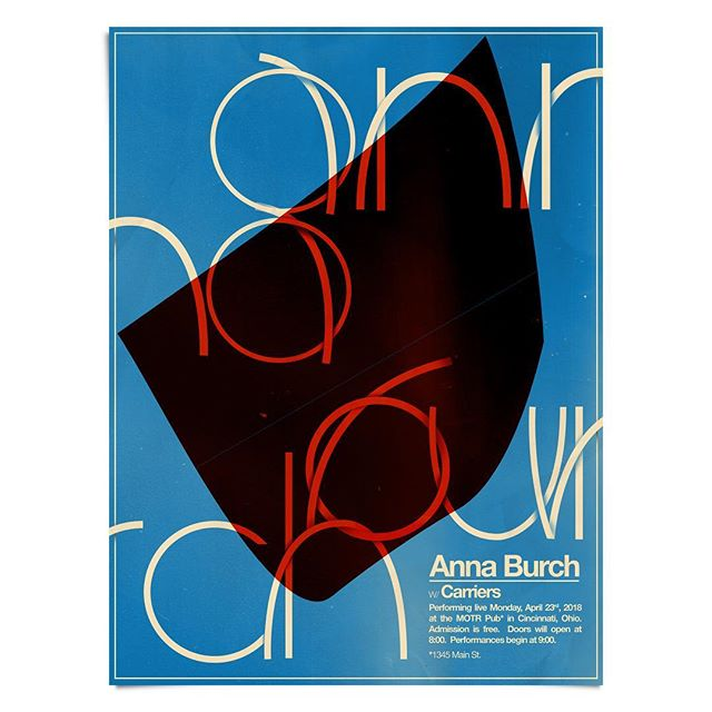 Next show is April 23 w/ @annaisaburch @motrpub  Check out her new record #quitthecurse on @polyvinylrecords ! Can't wait! See you there! 🌀: @aaronlowell