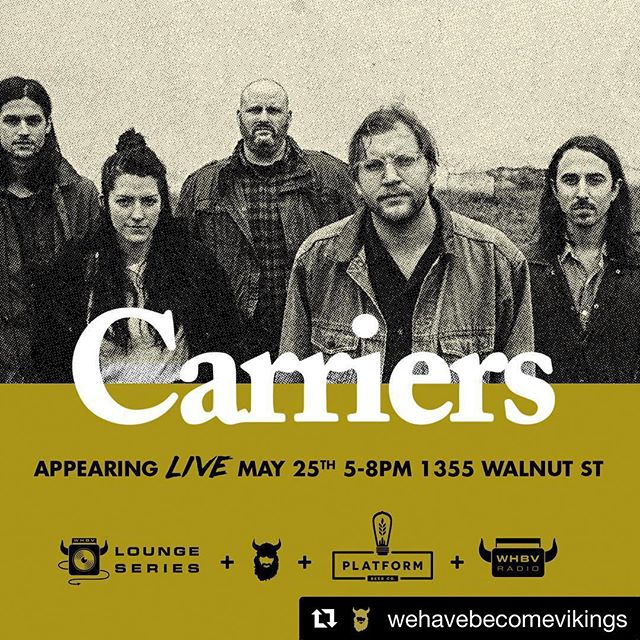 Very excited for next weekend! May25th- @wehavebecomevikings  May 26th- @myfountainsquare w/ @badveins & @knottsband  #Repost @wehavebecomevikings with @get_repost ・・・ We're thrilled to announce this month's #VikingLounge Series band @carrierstheband going to be a great night! May 25th #WHBV thanks to our buddies at @platformbeerco we can't wait! 5-8p