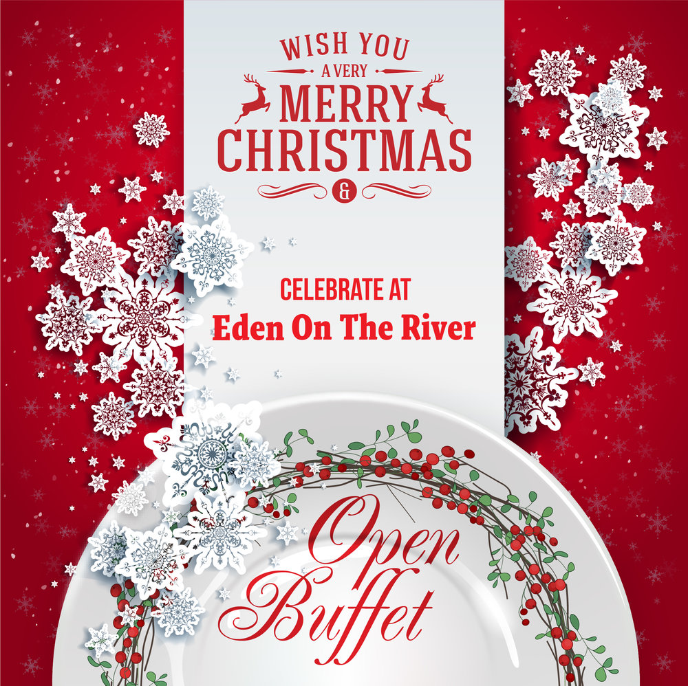 Join us for a very special Christmas Eve open Buffet! Only $50 per person including wine or a cocktail. Reservations are required.