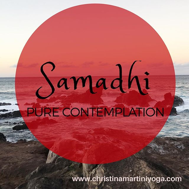 Samadhi  state of full concentration on both our physical being and the rhythm of our breath of life.  This is our place of Consciousness 💭