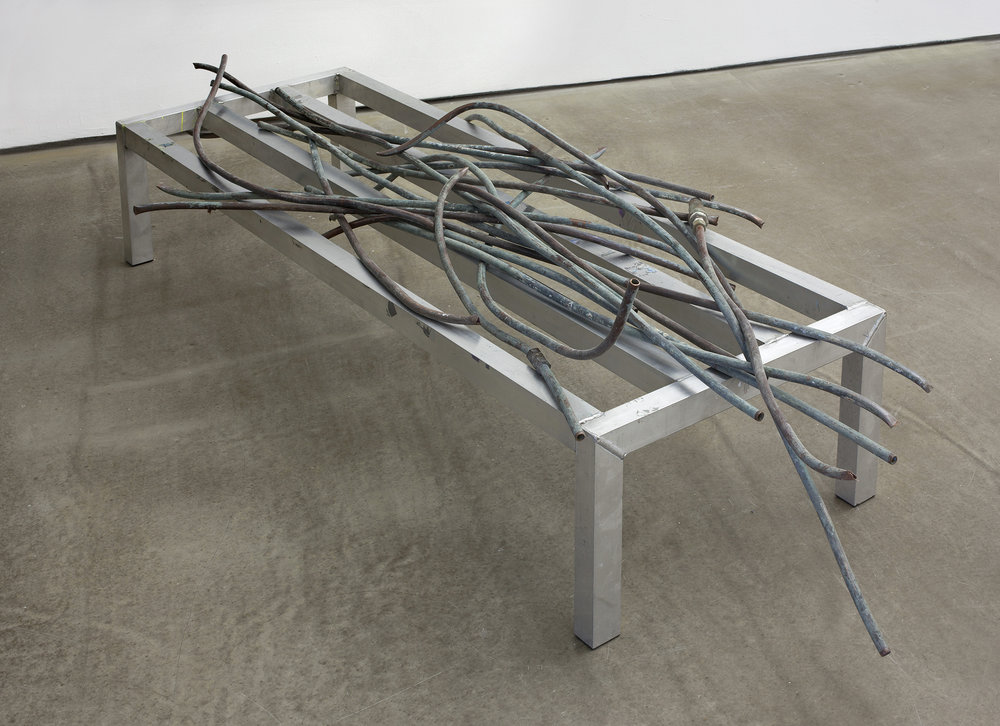 not titled 2011 pipe, frame 16 x 26 x 66 inches