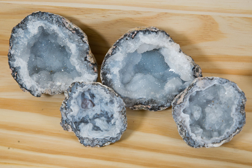 Trancas geodes being the most popular, they are mined in Chihuahua Mexico.