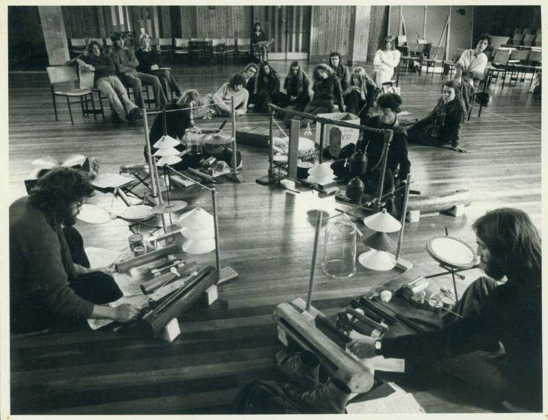 From Scratch's first performance at Sonic Circus, Wellington. Photo:  Evening Post , 1974.